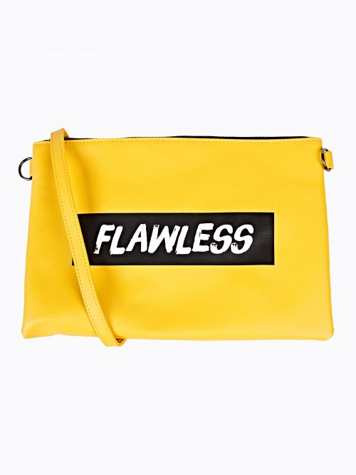Messenger bag with message print
