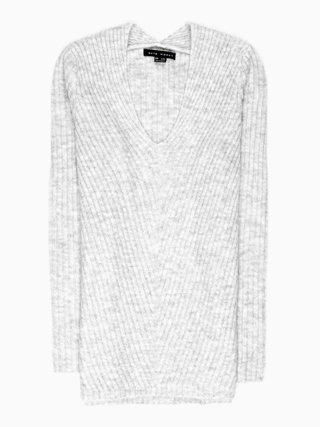 RIB-KNIT V-NECK JUMPER