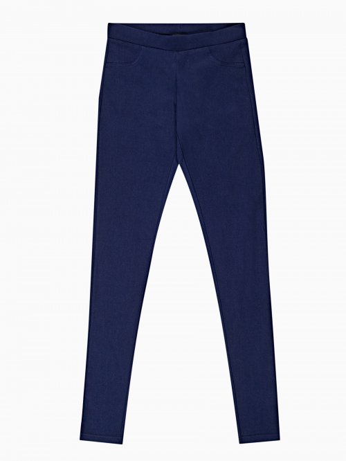 PLAIN SLIM TROUSERS