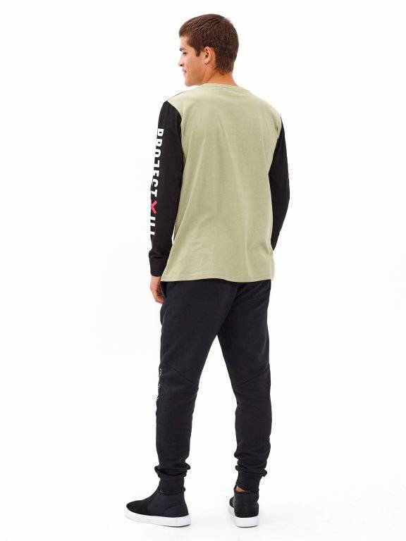 T-SHIRT WITH CONTRAST RAGLAN SLEEVES