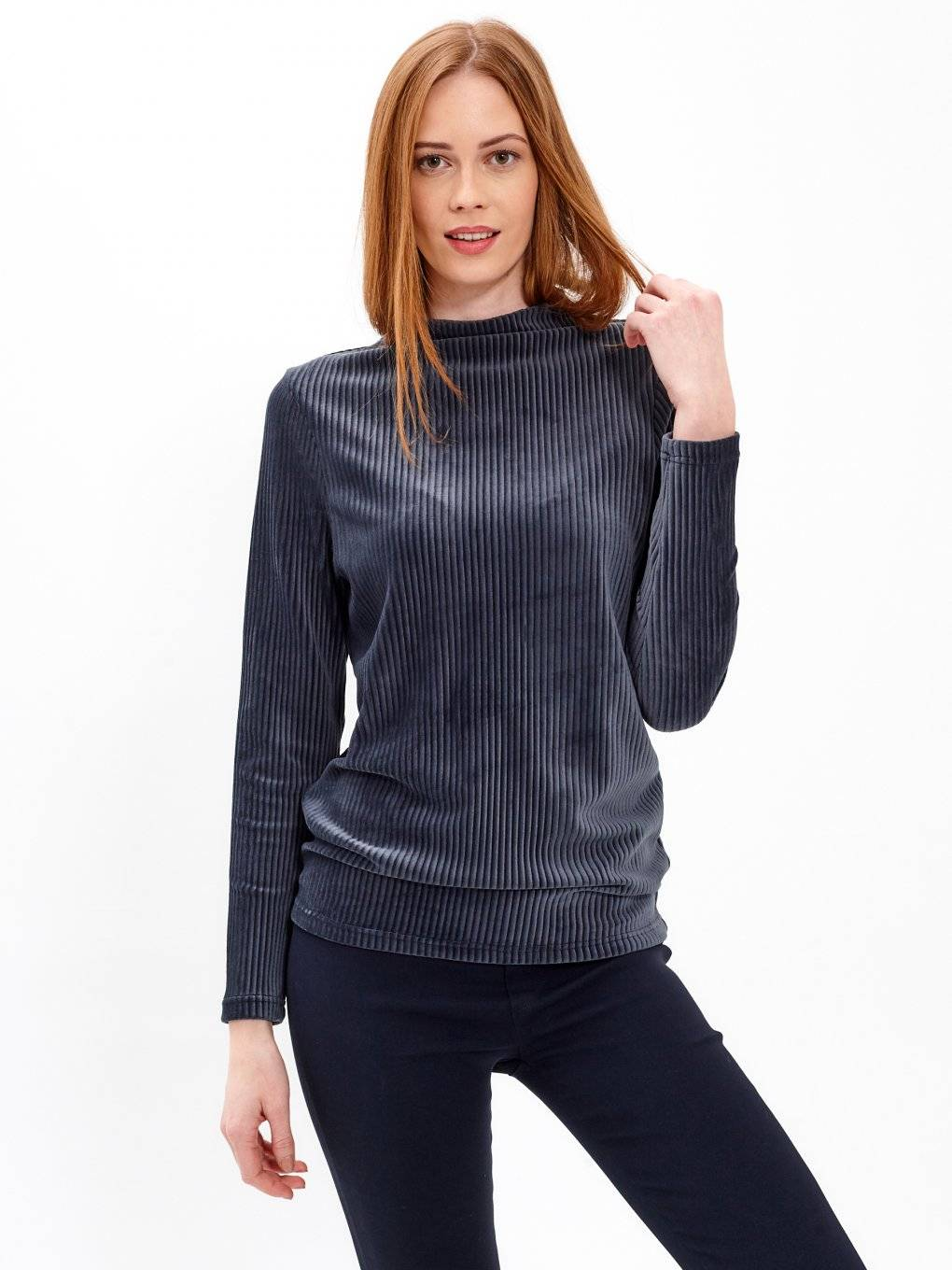 VELVET HIGH NECK JUMPER