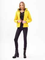 QUILTED PADDED JACKET WITH HIGH COLLAR