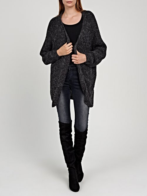 LOOSE-KNIT OVERSIZED CARDIGAN IN WOOL BLEND