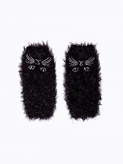 Fingerless cat gloves