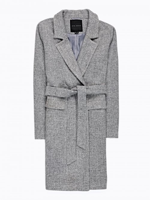 MARLED DUSTER COAT IN WOOL BLEND