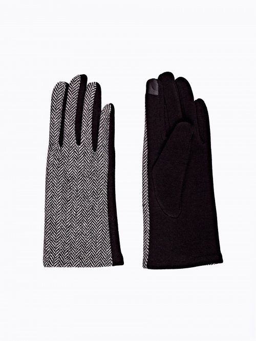 Combined touch screen gloves