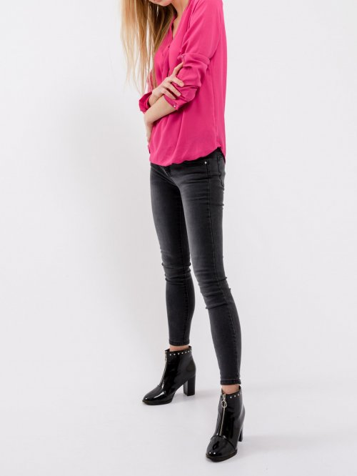Basic wrap front blouse