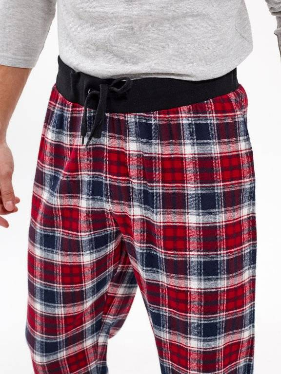 PLAID PYJAMA BOTTOMS