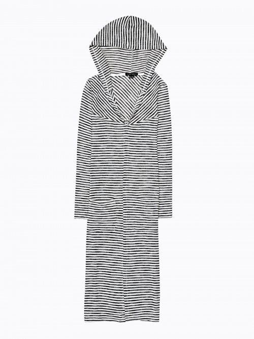 LONGLINE STRIPED CARDIGAN