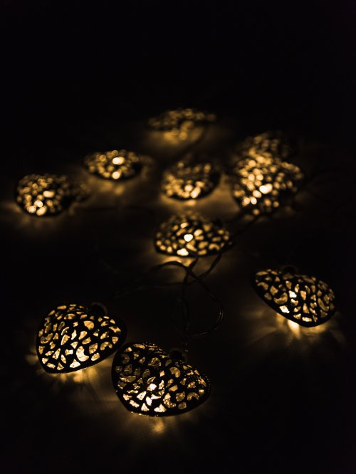 LED HEART SHAPE STRING LIGHTS