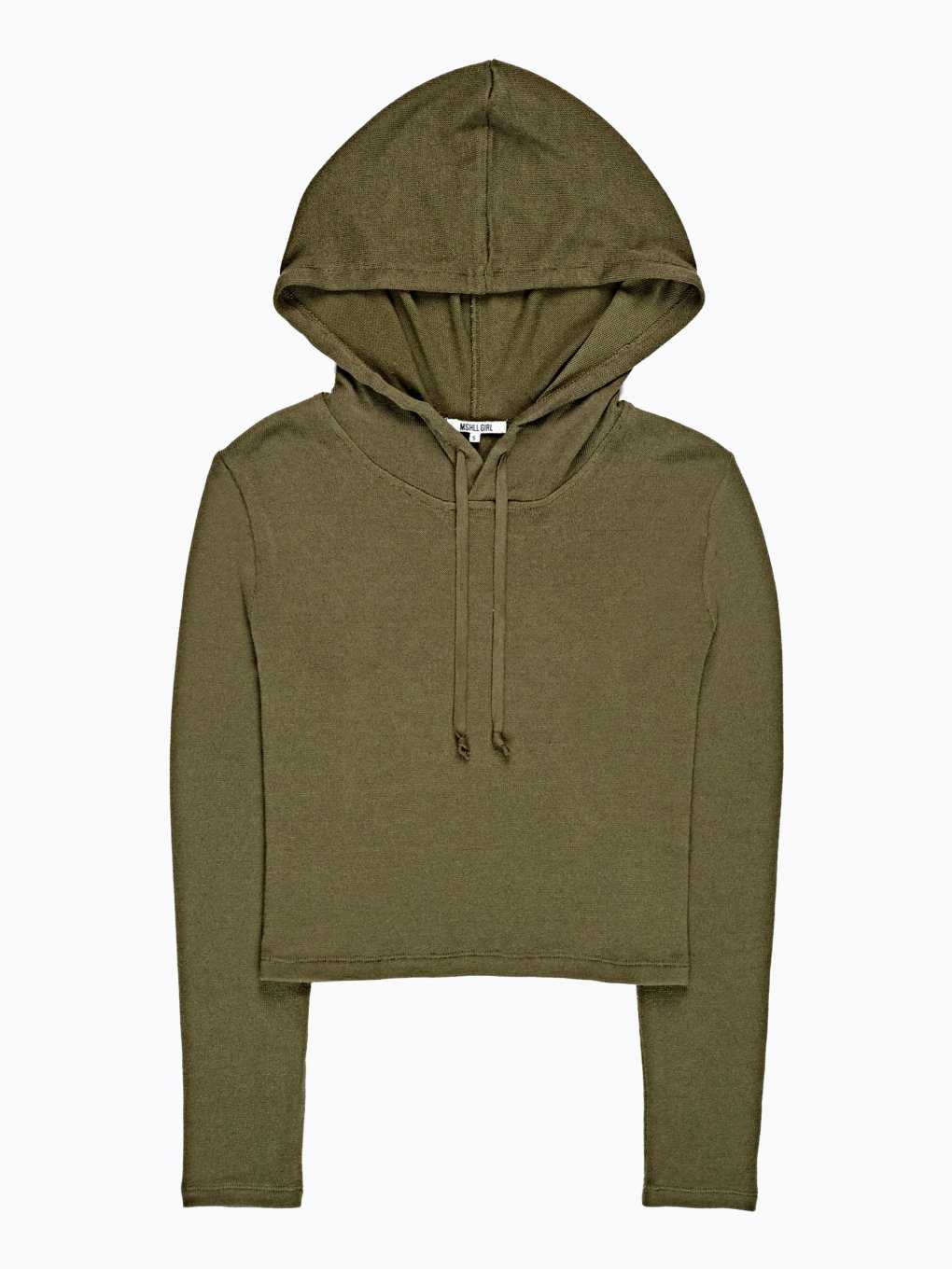 CROP JUMPER WITH HOOD