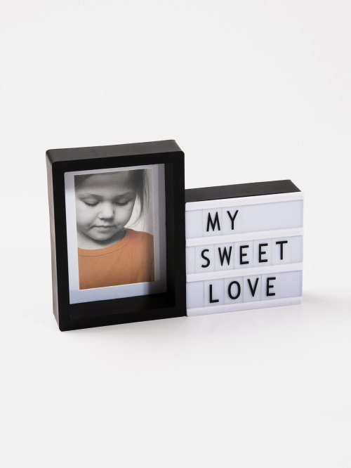 PHOTO FRAME WITH LED LIGHT BOX