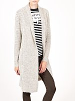 Longline cardigan with patch pockets