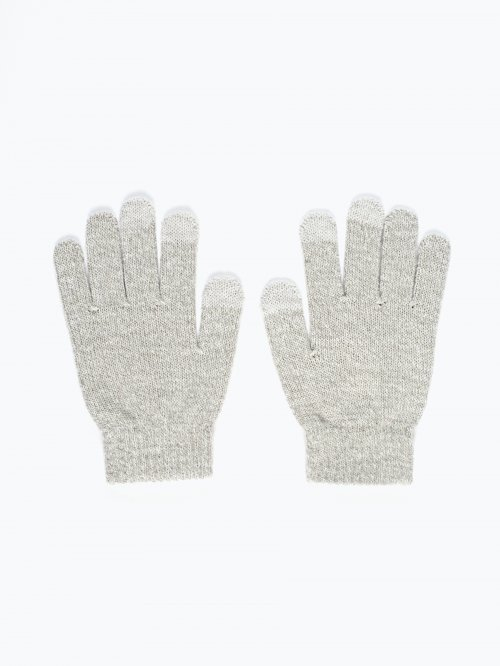 Basic marled touch screen gloves