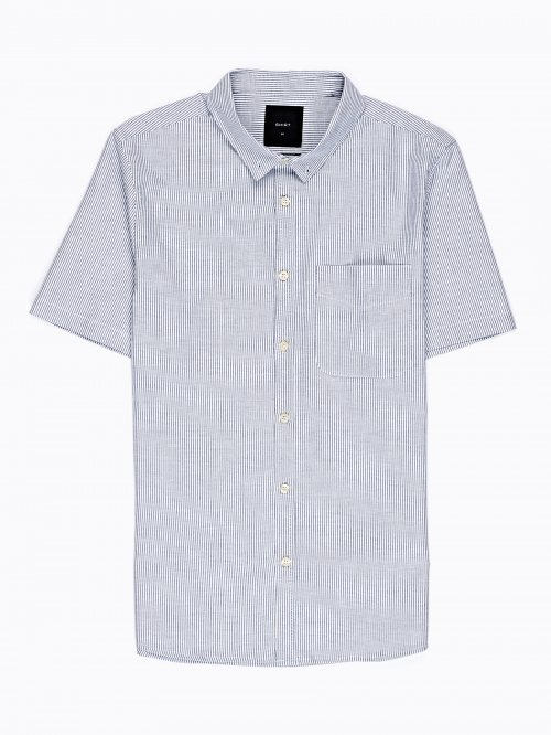 STRIPED COTTON SLIM FIT SHIRT