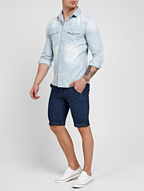 DENIM SHIRT IN LIGHT BLUE WASH