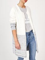 Two tone prolonged cardigan
