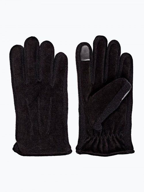 Combined leather gloves