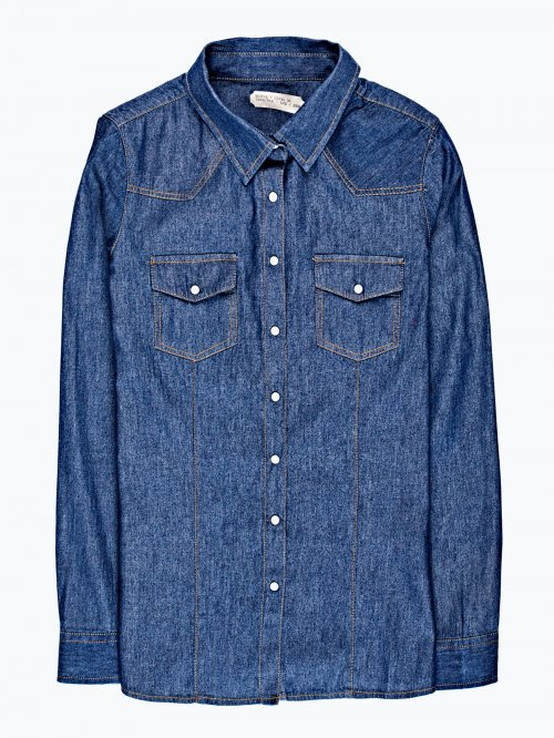 Denim shirt in dark blue wash