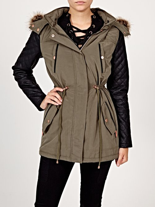 Combined padded parka