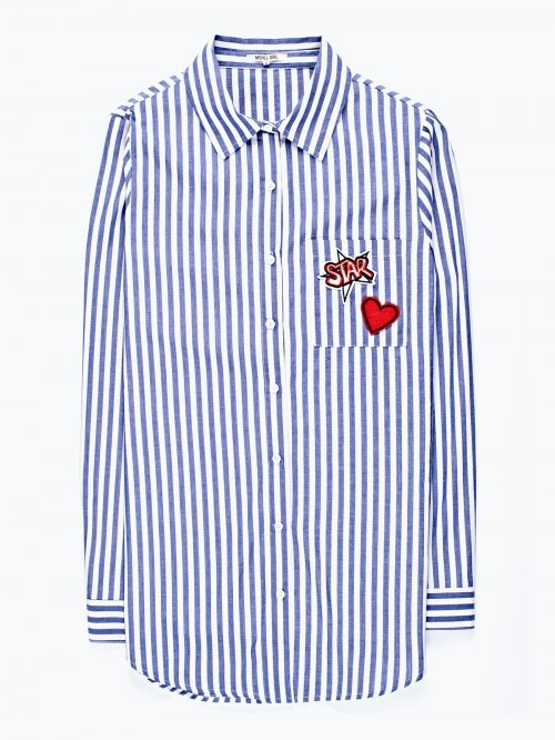 Striped patch shirt