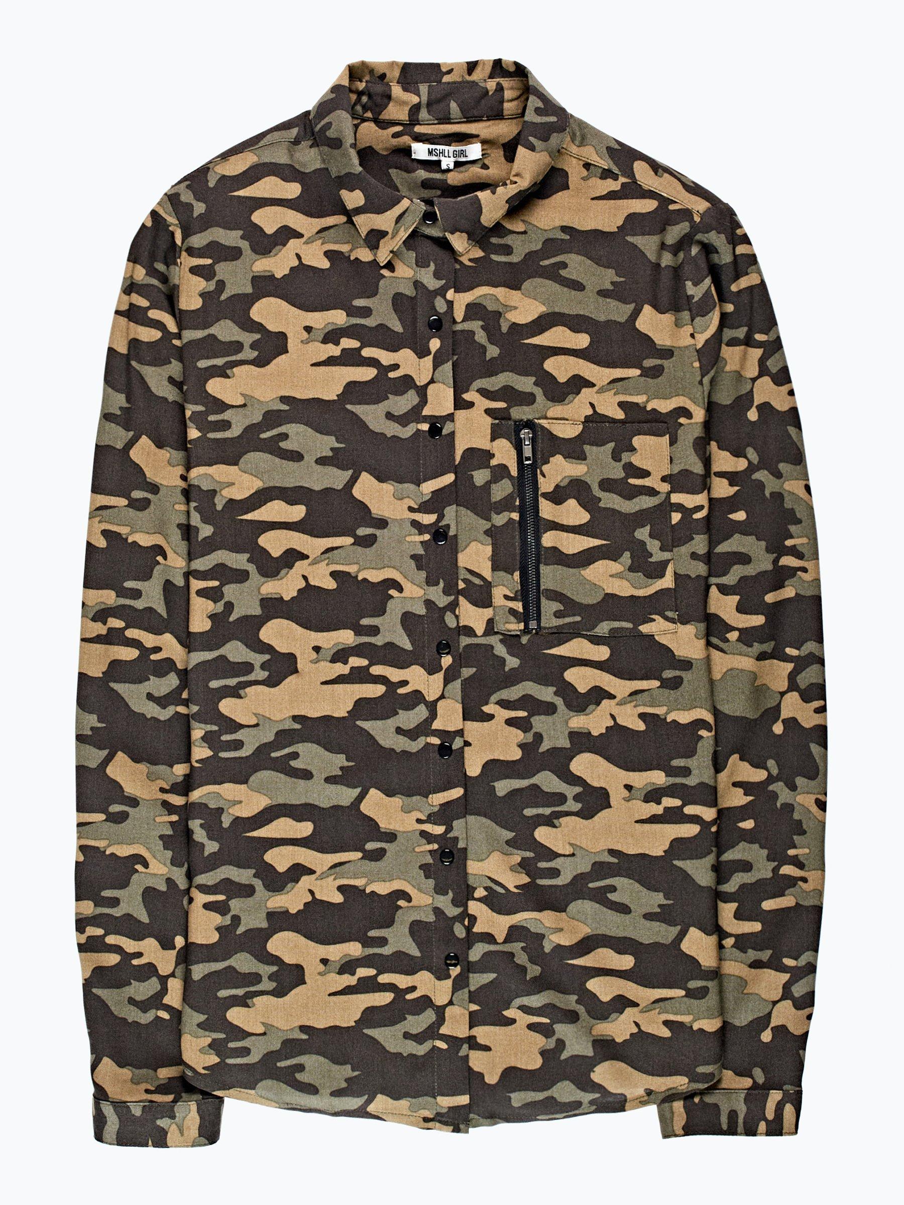 Camo Print Viscose Shirt Gate