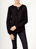 Viscose blouse with front lacing