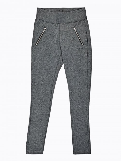 Úpletové kalhoty se zipy 7f3a1c3ca0