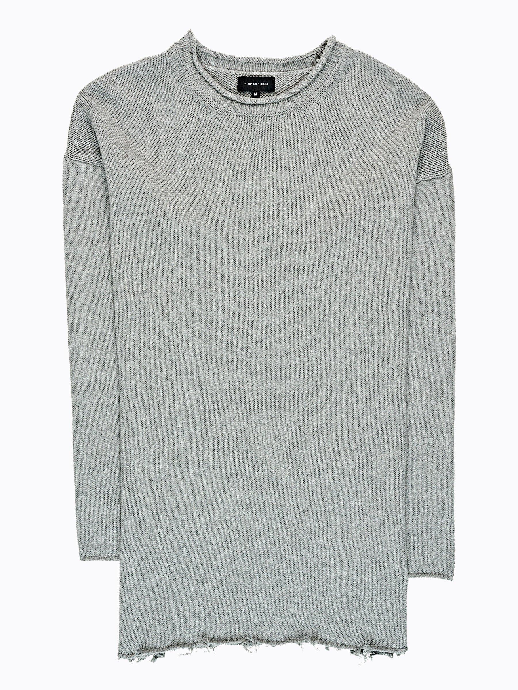 Široký svetr s neopracovaným lemem  7106f167c8