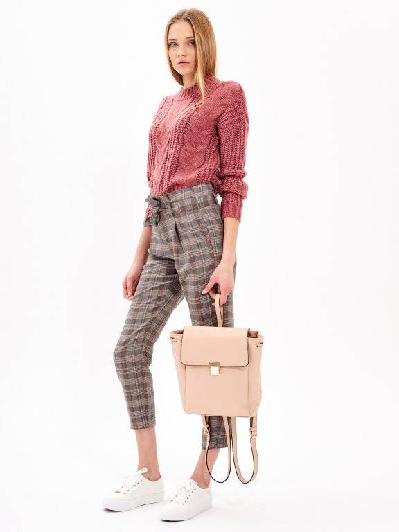 PLAID PAPERBAG TROUSERS