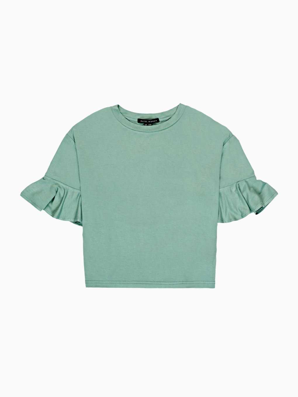 T-SHIRT WITH RUFFLES