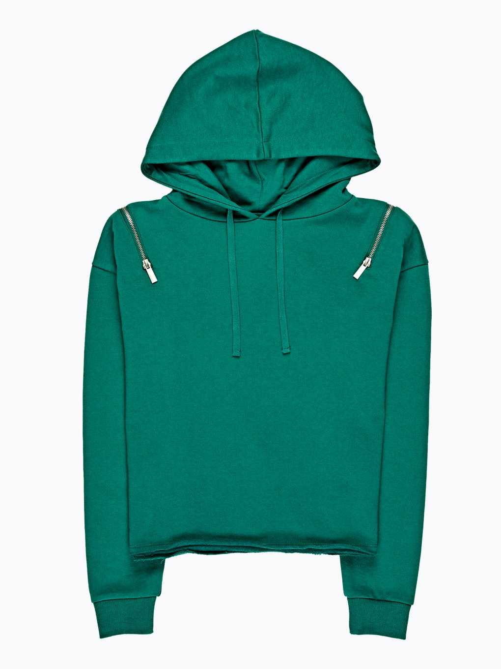 Hoodie with zippers