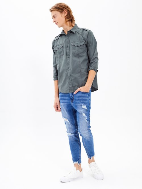 REGULAR FIT COTTON SHIRT