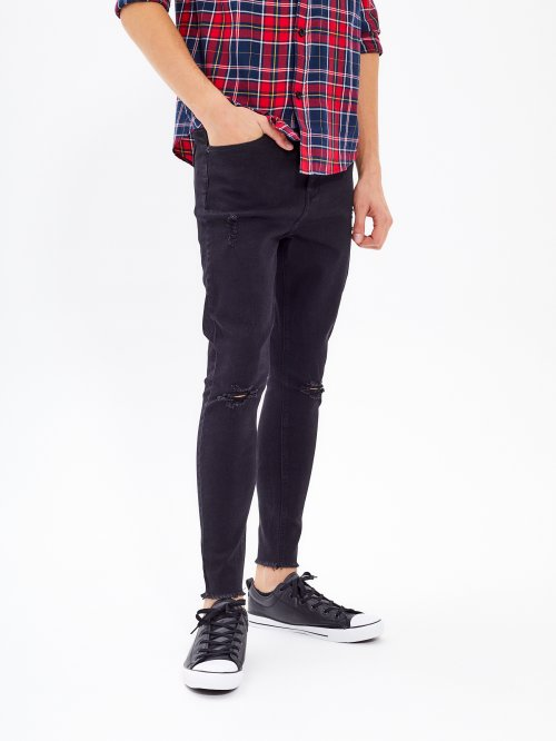 RIPPED KNEES SLIM FIT JEANS