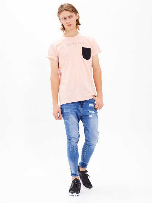 d52b72fe Straight slim fit tapered ripped jeans
