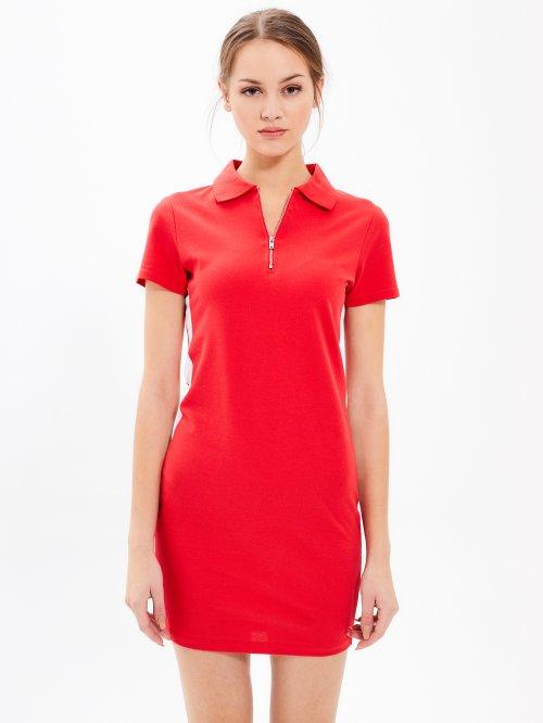 Puzdrové mini šaty so zipsom f886a8a6945