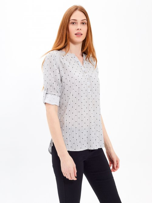 STRIPED BLOUSE WITH DOTS