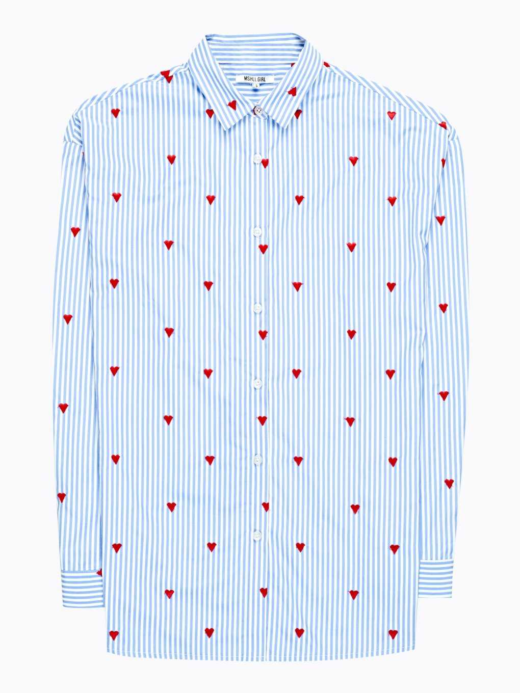 STRIPED SHIRT WITH HEARTS