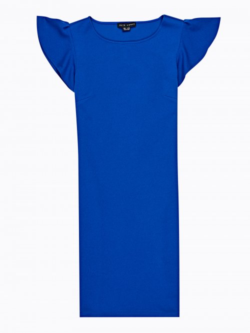 BODYCON DRESS WITH RUFFLE SLEEVE