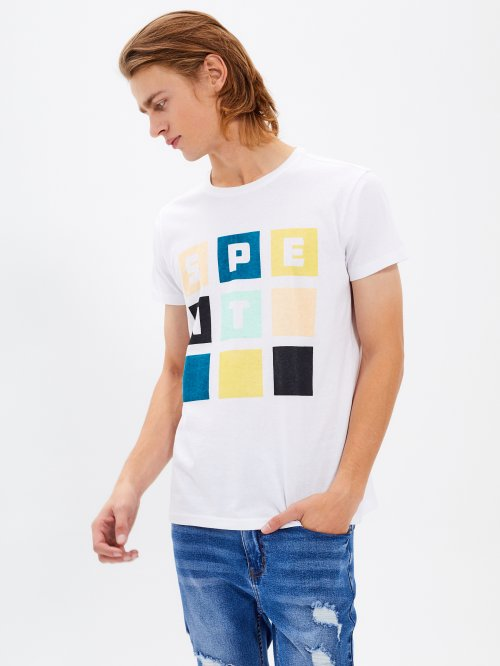 SLIM  FIT T-SHIRT WITH PRINT