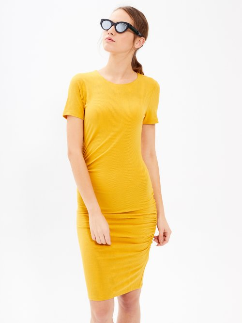 BODYCON DRESS WITH FRILLED DETAIL