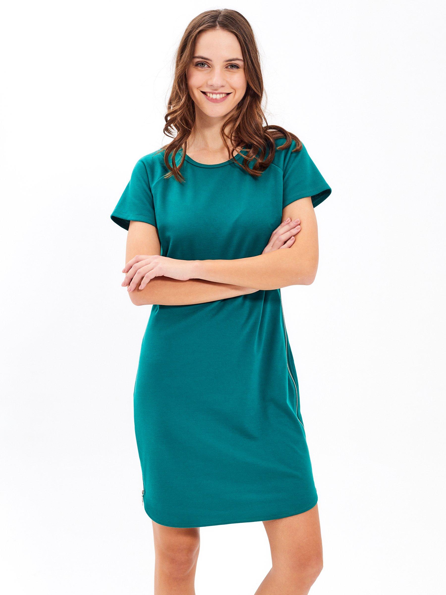 Tričkové šaty s bočním zipem  7a601162b5c