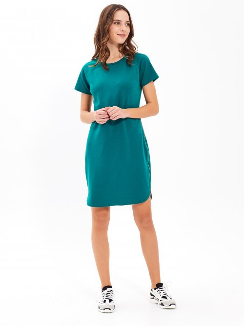 214c73927673 Tričkové šaty s bočným zipsom