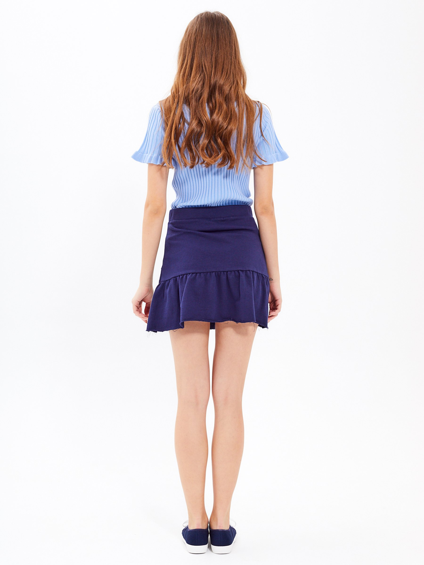 SKIRT WITH RUFFLE