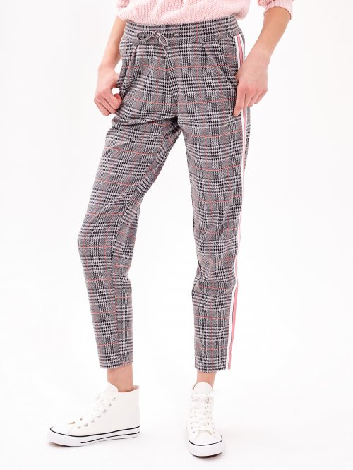 TAPED PLAID TROUSERS