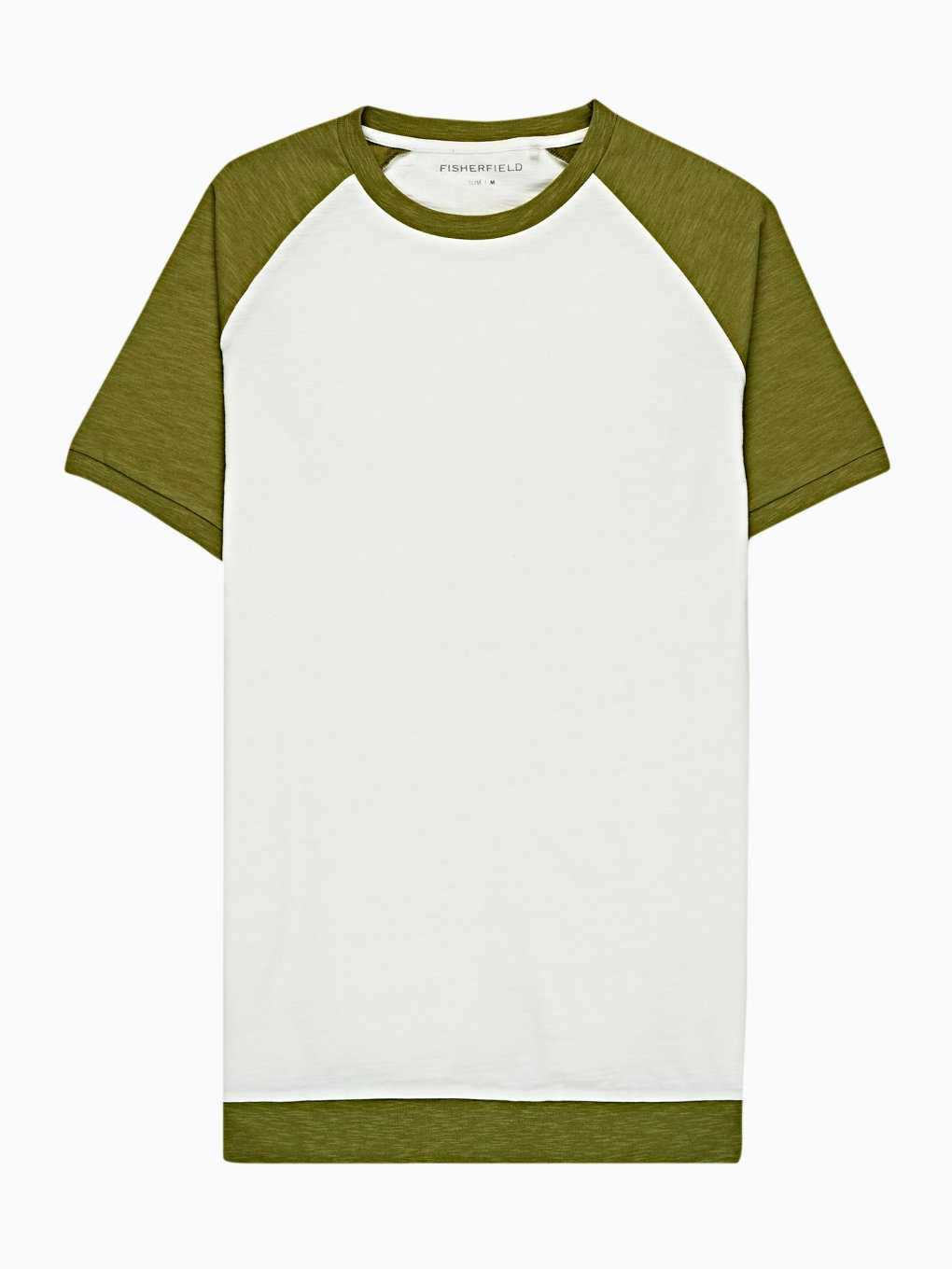 CONTRAST SLEEVES T-SHIRT