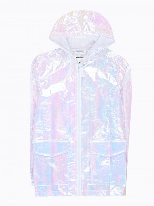 IRIDESCENT HOODED JACKET
