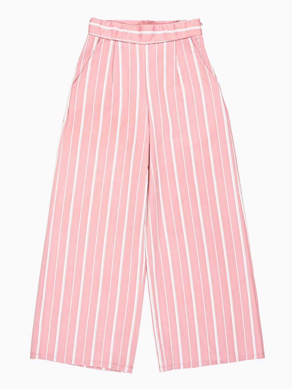 WIDE LEG STRIPED TROUSERS