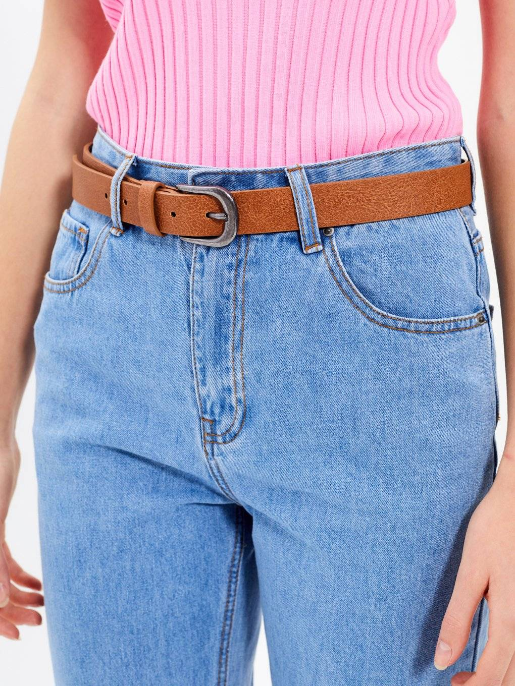 BELT WITH METAL BUCKLE