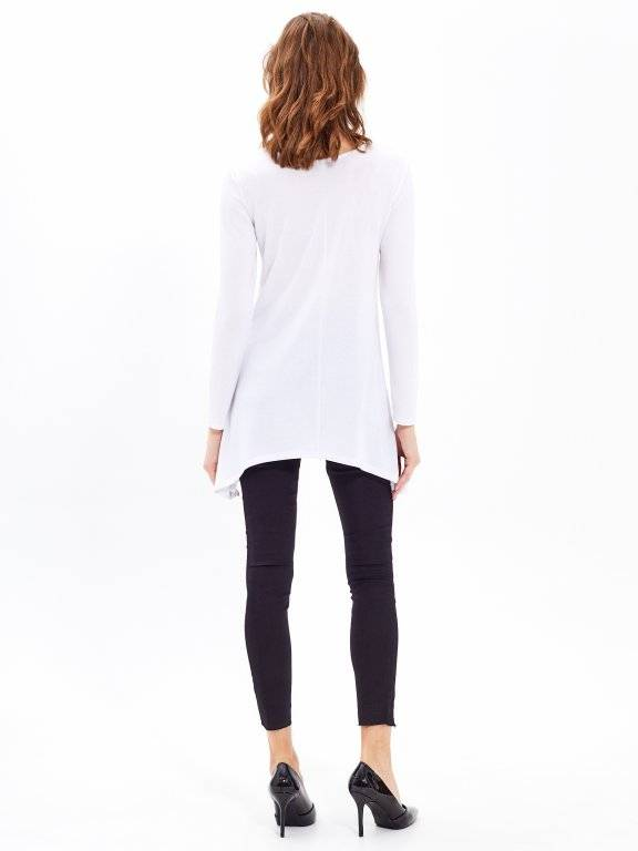 LONGLINE JUMPER WITH FRONT LACING